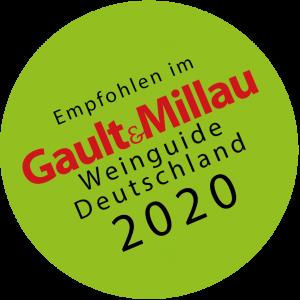 Auszeichnungen 2020 Gault & Millau Aufkleber