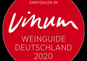 Auszeichnungen 2020 Vinum Aufkleber